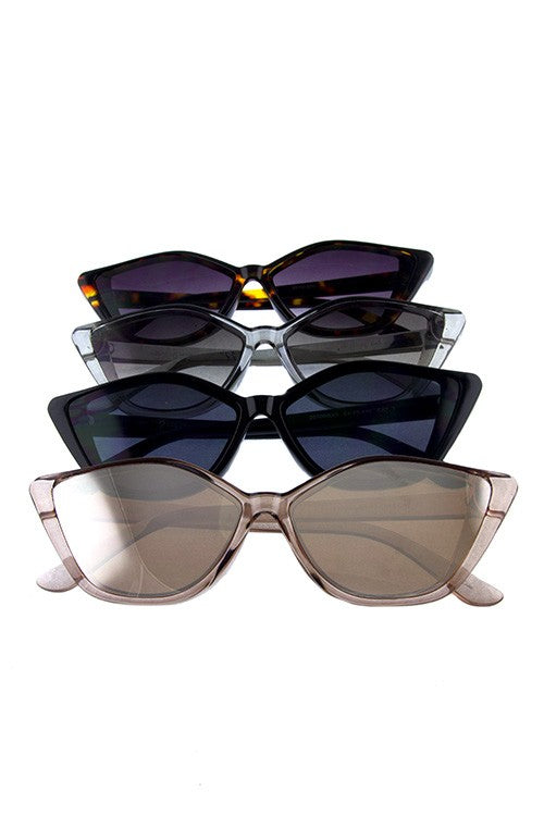 Womens modern square pointed sunglasses