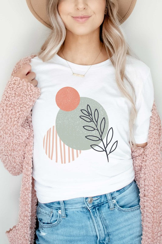 CIRCLES OF LEAVES GRAPHIC T-SHIRT
