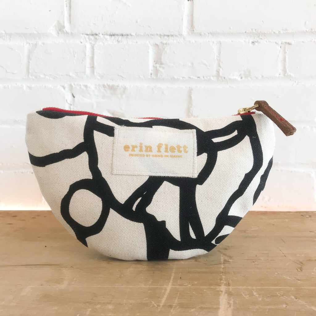 Pre-Order Black George Small Half Moon Bag