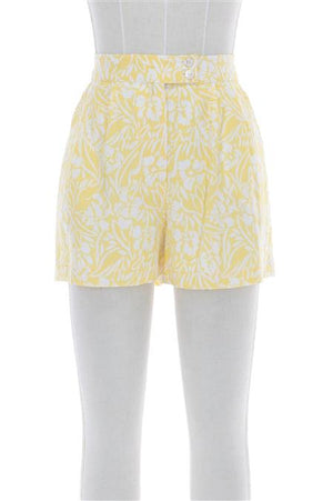 Final Sale - Yellow Floral Shorts