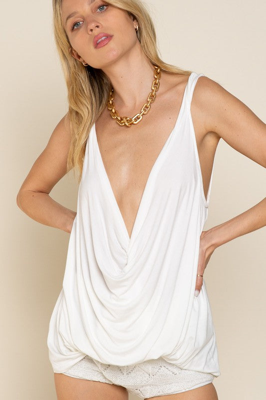 Ivory Twisted Tank Top