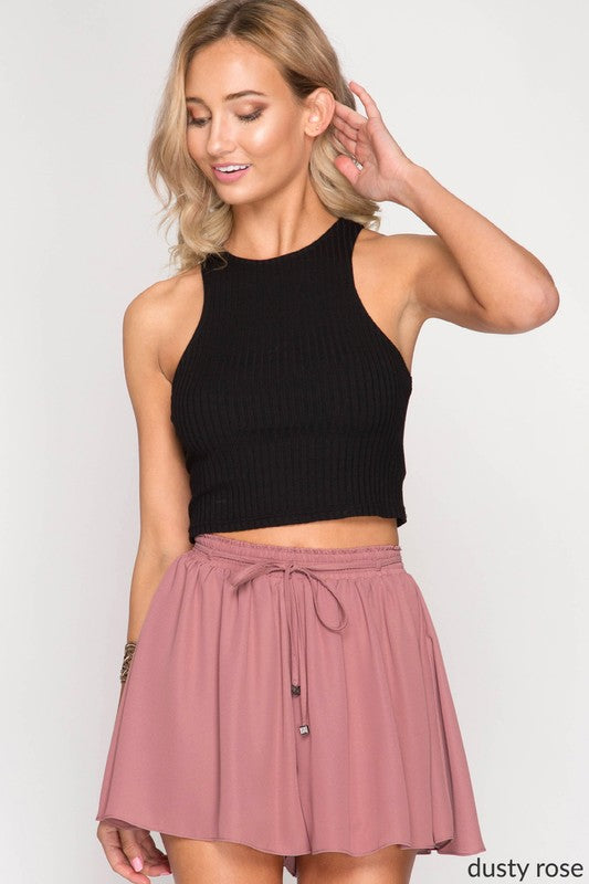 High Rise Dusty Rose Shorts