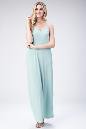 FINAL SALE - Mint Jersey Tank Dress