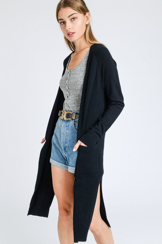 Super Soft Cardigan With Side Split