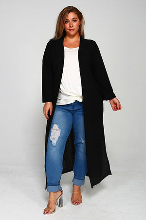 Curvy Girl - Black Duster