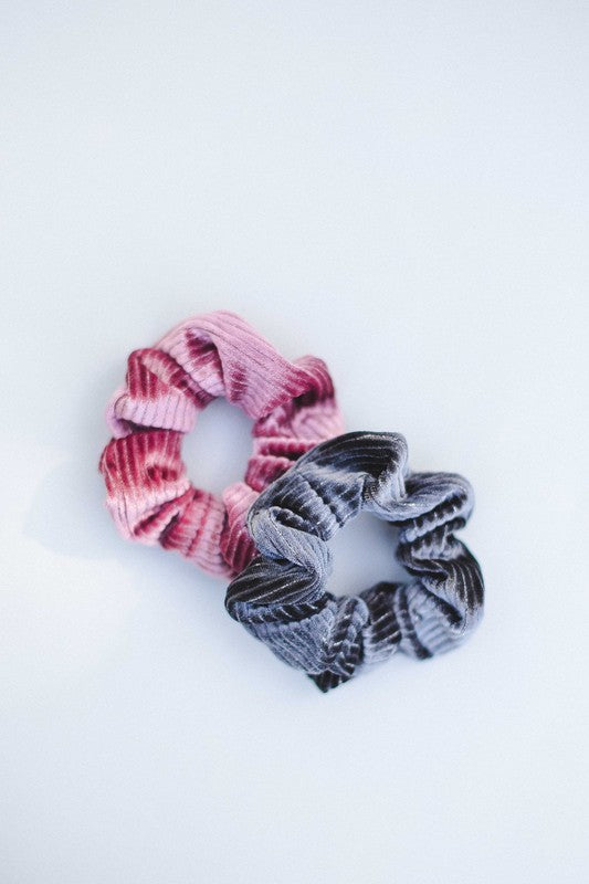 Stripe Glitter Velvet Hair Scrunchie
