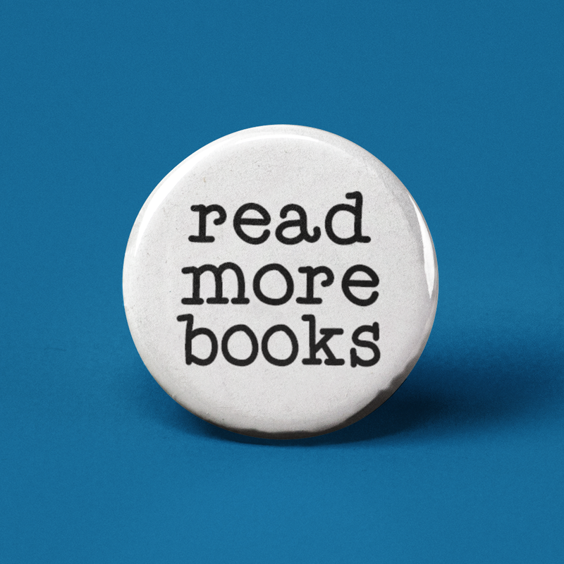 Read More Books Pinback Button
