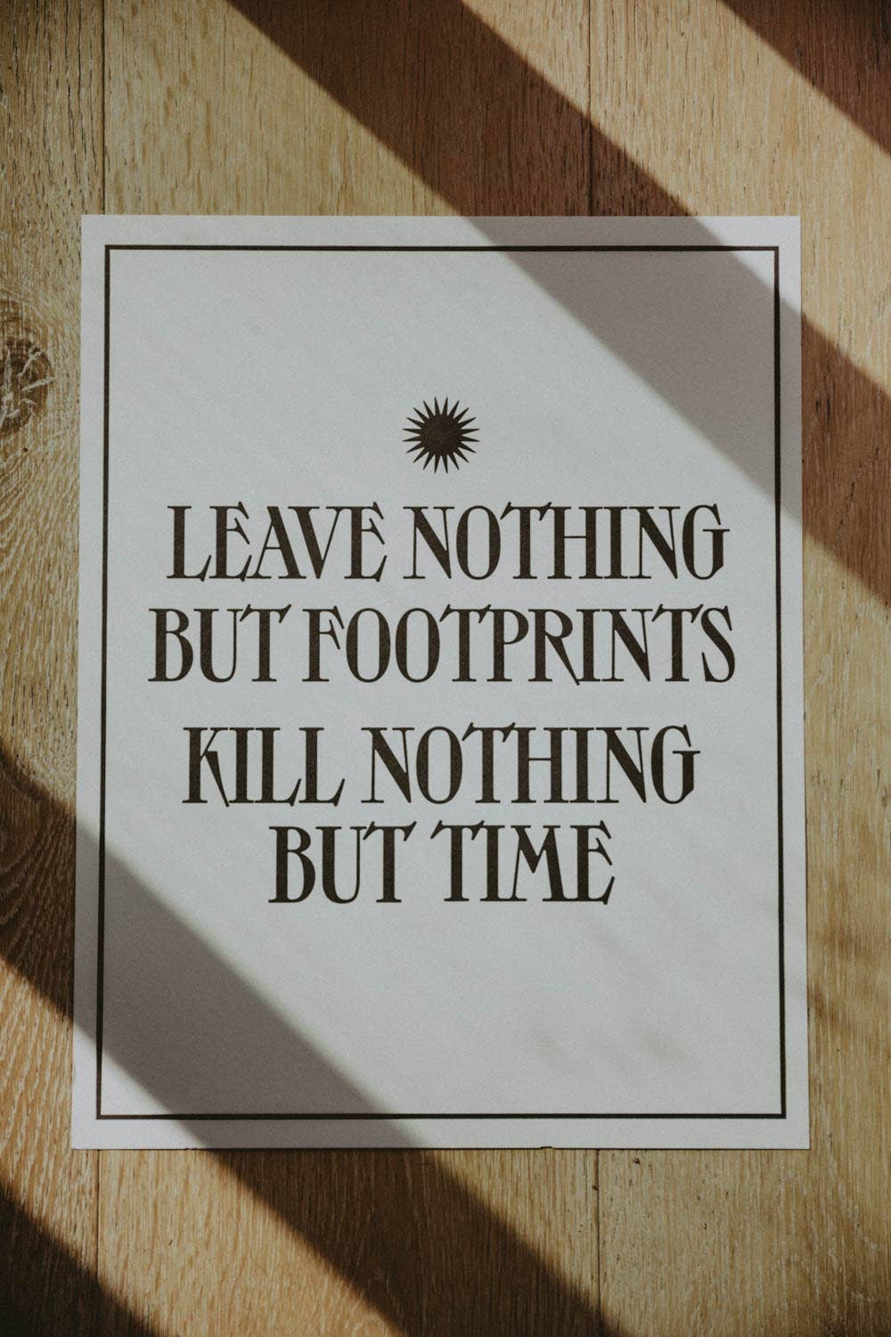 Letterpress: Leave Nothing But Footprints