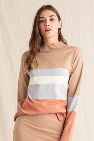 Multi Striped Ribbed Sweater