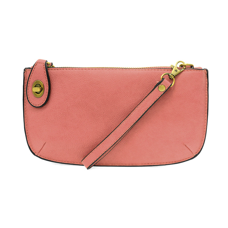 Blush Mini Crossbody Wristlet Clutch
