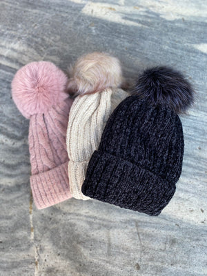 Chanelle Hat with Pom Pom