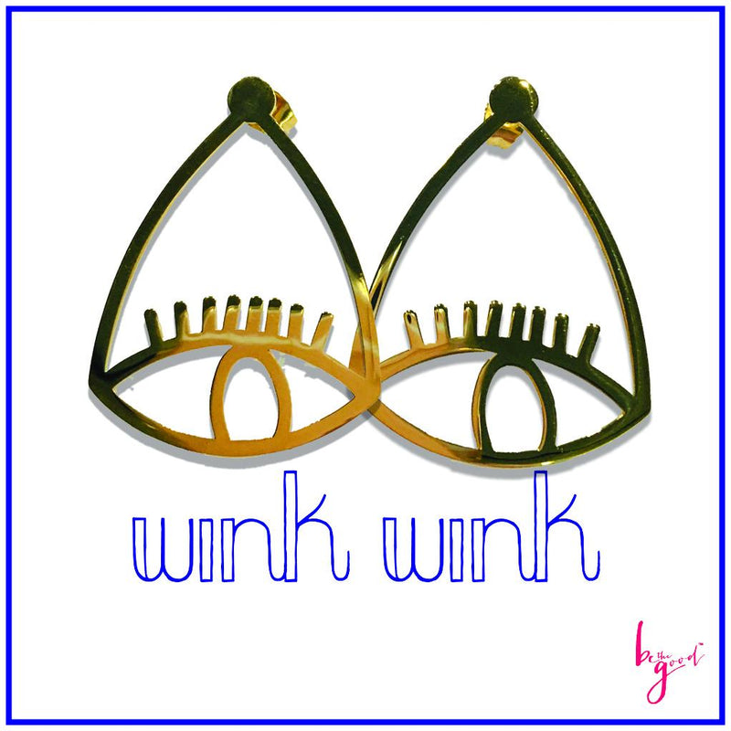 Wink Wink Gold Earrings