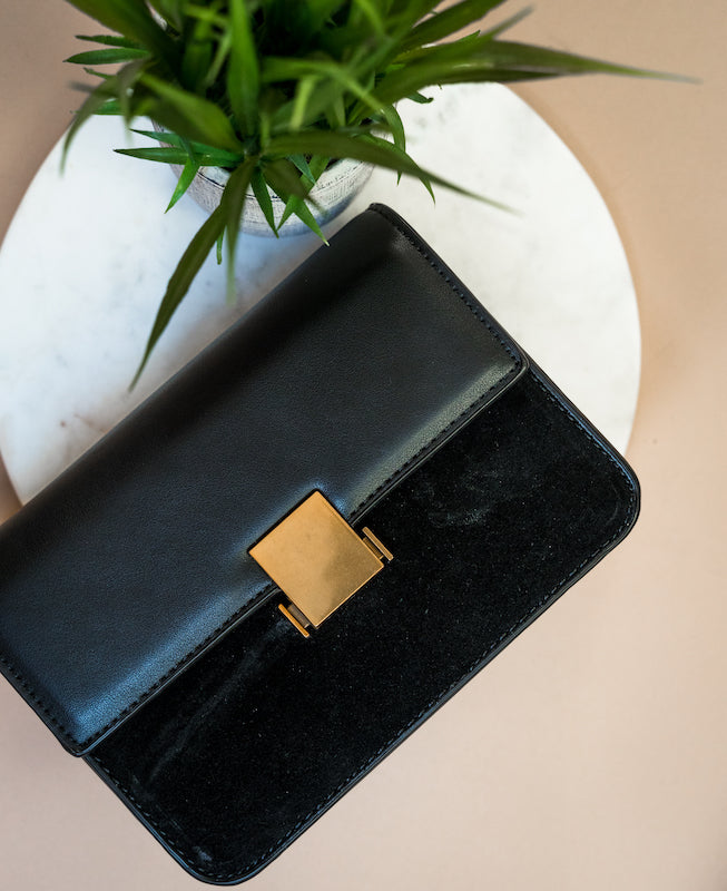 Black On Black Crossbody Purse