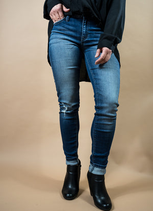 Kan Can High Rise Distressed Denim