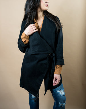 Sustainably Made Black Trench Jacket