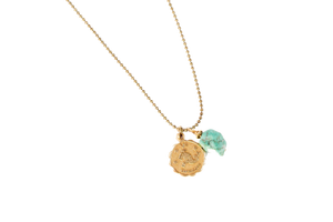 Zodiac Necklace With Turquoise Stone - Nicoletaylorboutique