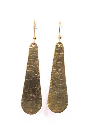 Hammered Drop Earrings - Nicoletaylorboutique