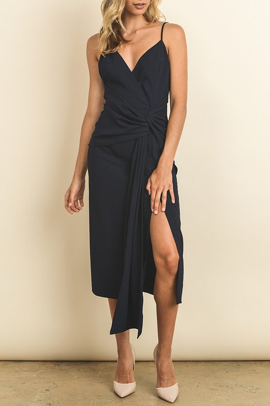 Sexy Navy Midi Dress - Nicoletaylorboutique