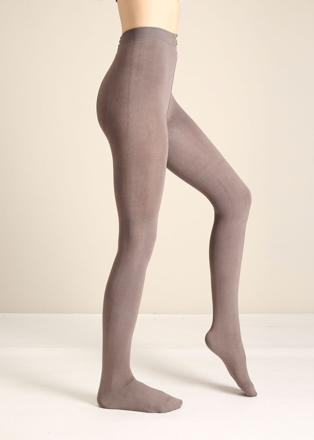 Taupe Fleece Light Tights - Nicoletaylorboutique