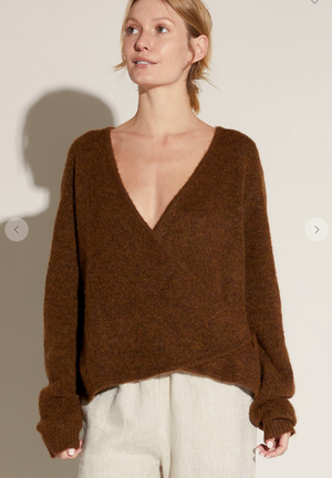 Brown Wrap Sweater