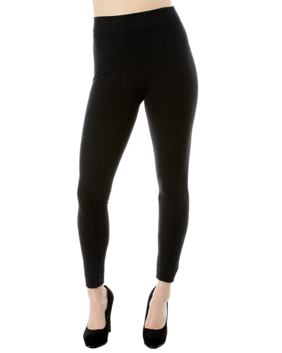 Black Fleece Line Leggings- Full Length Leggings - Nicoletaylorboutique