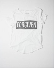 Forgiven White and Vintage Charcoal Christian Tee - Nicoletaylorboutique