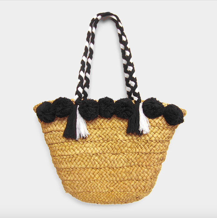 Pom Pom Straw Tote Bag - Nicoletaylorboutique
