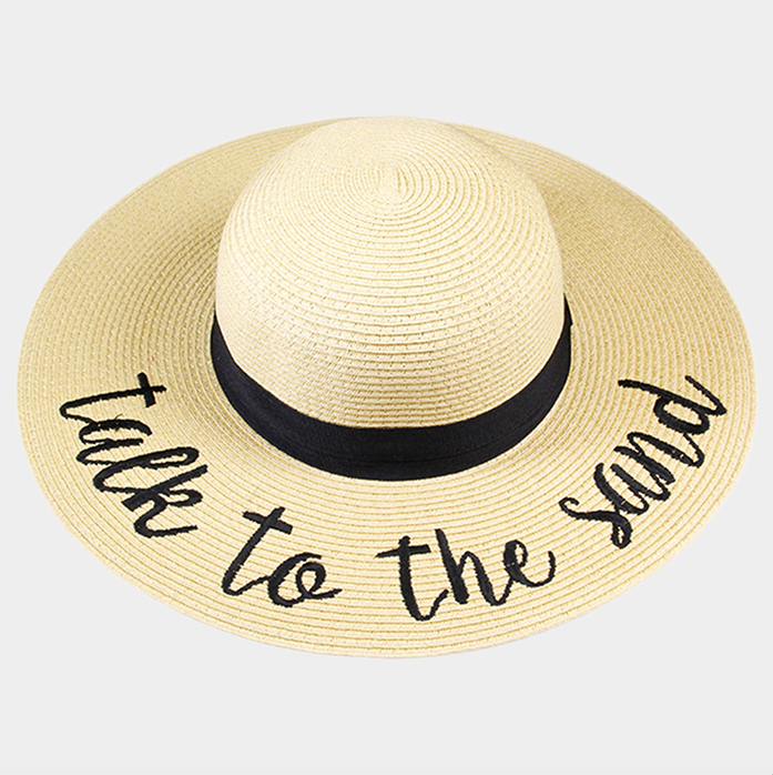 Take To The Sand Straw Floppy Sun Hat - Nicoletaylorboutique