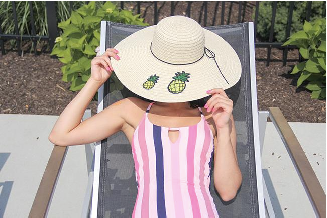 Pineapple Floppy Sun Hat
