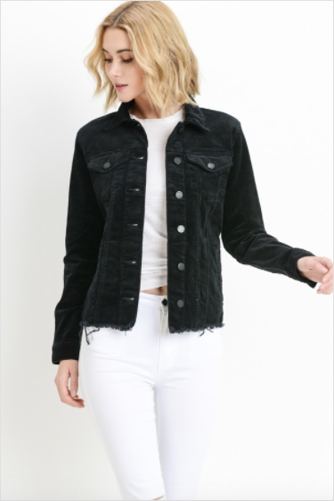 Corduroy raw cut jacket - Lancaster pa, women's clothing boutique, the 300 block of north queen st