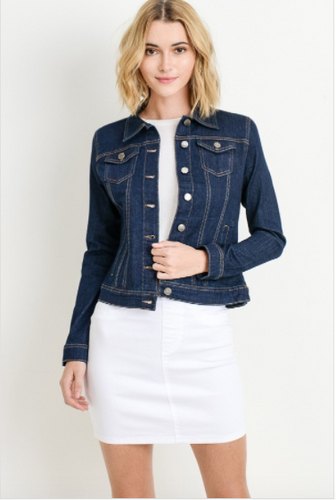 Classic Denim Jacket With Pockets