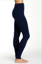Navy Fleece Line Leggings