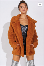 Rust Oversized Teddy Bear Coat