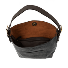 Brushed Black lux hobo tote