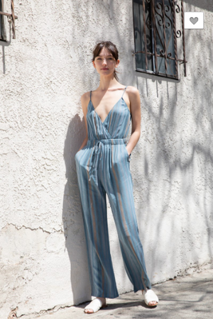 Strip Blue Jumpsuit