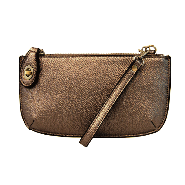Met Dark Bronze Mini Crossbody Wristlet Clutch