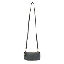 Dark Chambray Mini Crossbody Wristlet Clutch