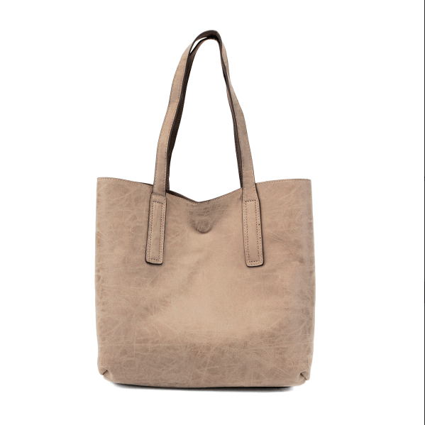 Chocolate Taupe Carly Brushed Reversible Tote