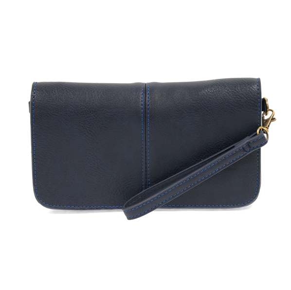 Navy Mia Multi Pocket Crossbody Clutch