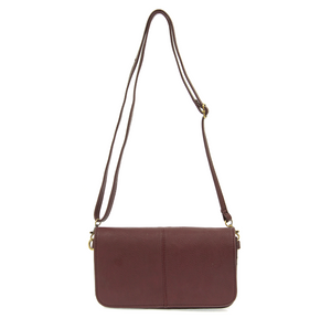 Burgundy Mia Multi Pocket Crossbody Clutch