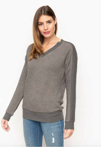 V Neck Thermal Top