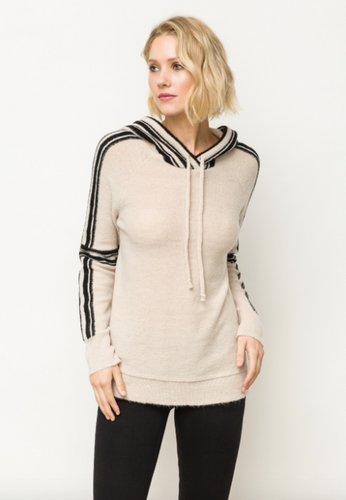 Side Line Sweater With Hood