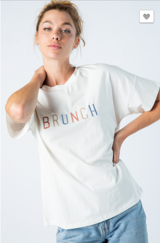 Brunch Embroidered Tee
