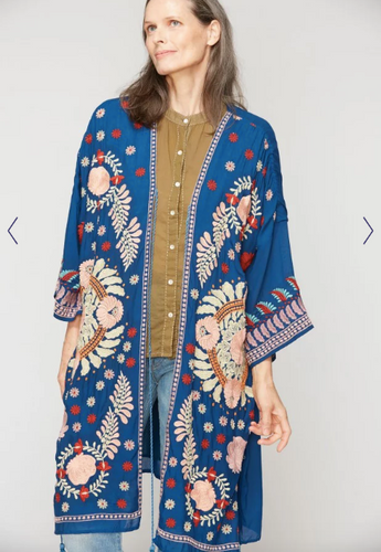 Salcete Embroidered Kimono Cover Up