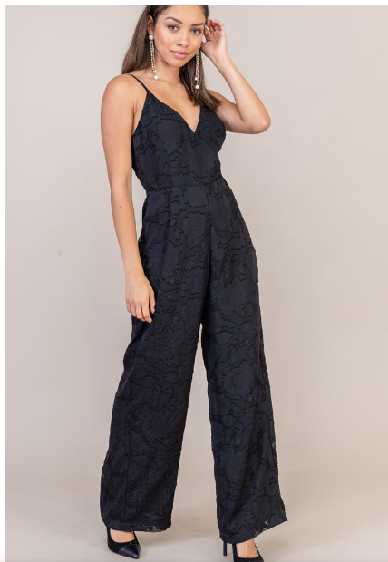 Burnout Floral Jumpsuit