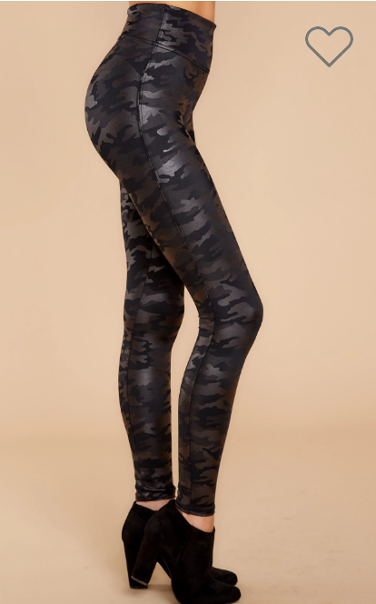 Spanx - Faux Leather Camo Leggings