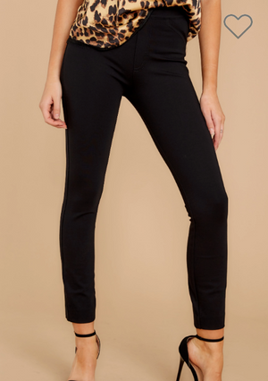 The Perfect Backseam Black Skinny Pants