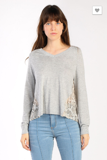 Light Weight Sweater with Contrast Snake Skin Back