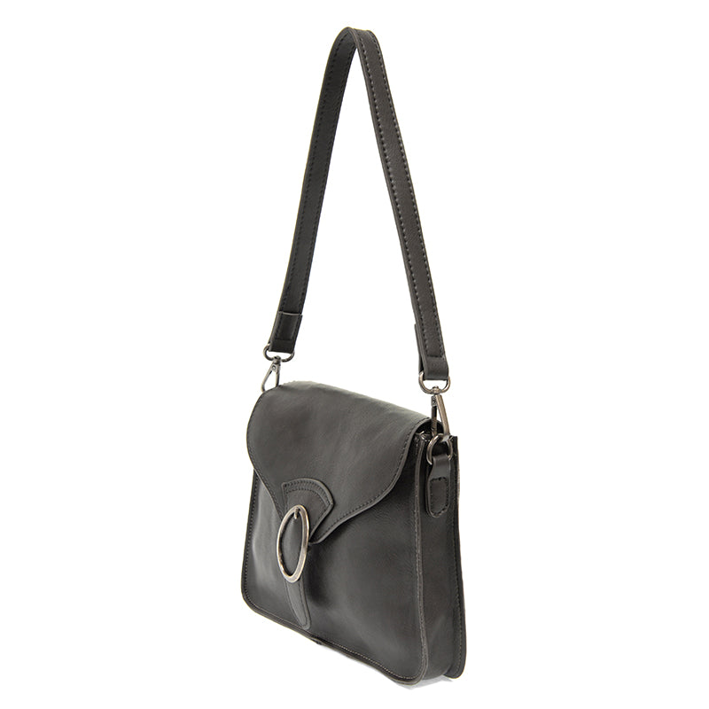 Drea Convertible Buckle Charcoal Handbag