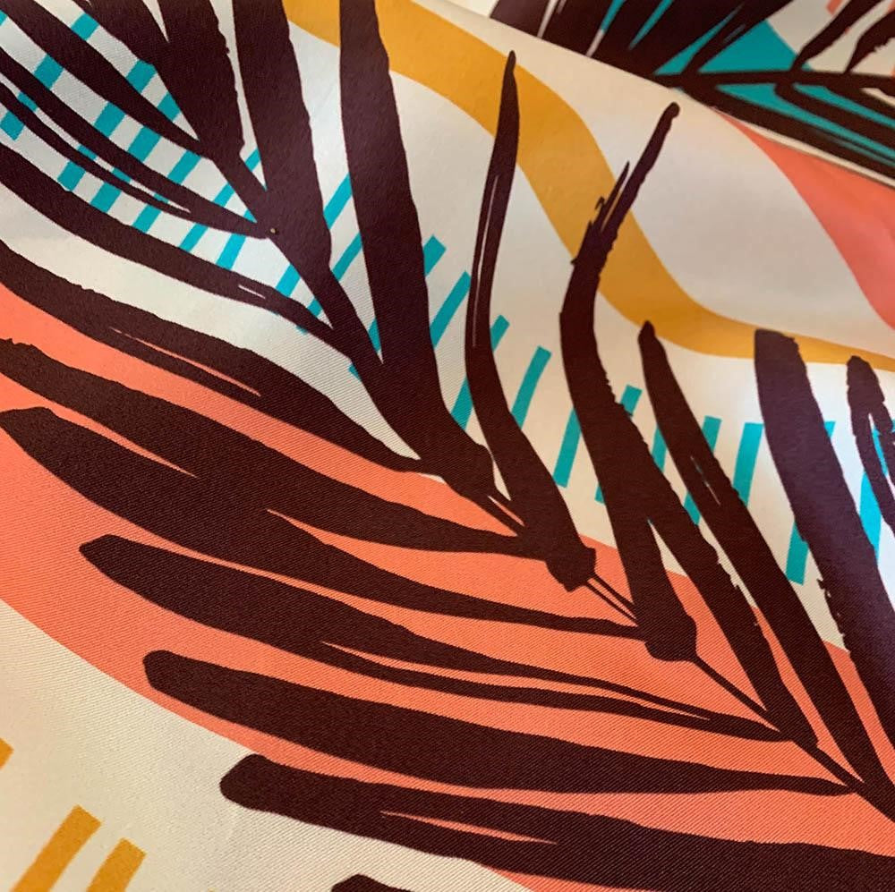 'Chilled Fall 100% Silk Twill Scarf